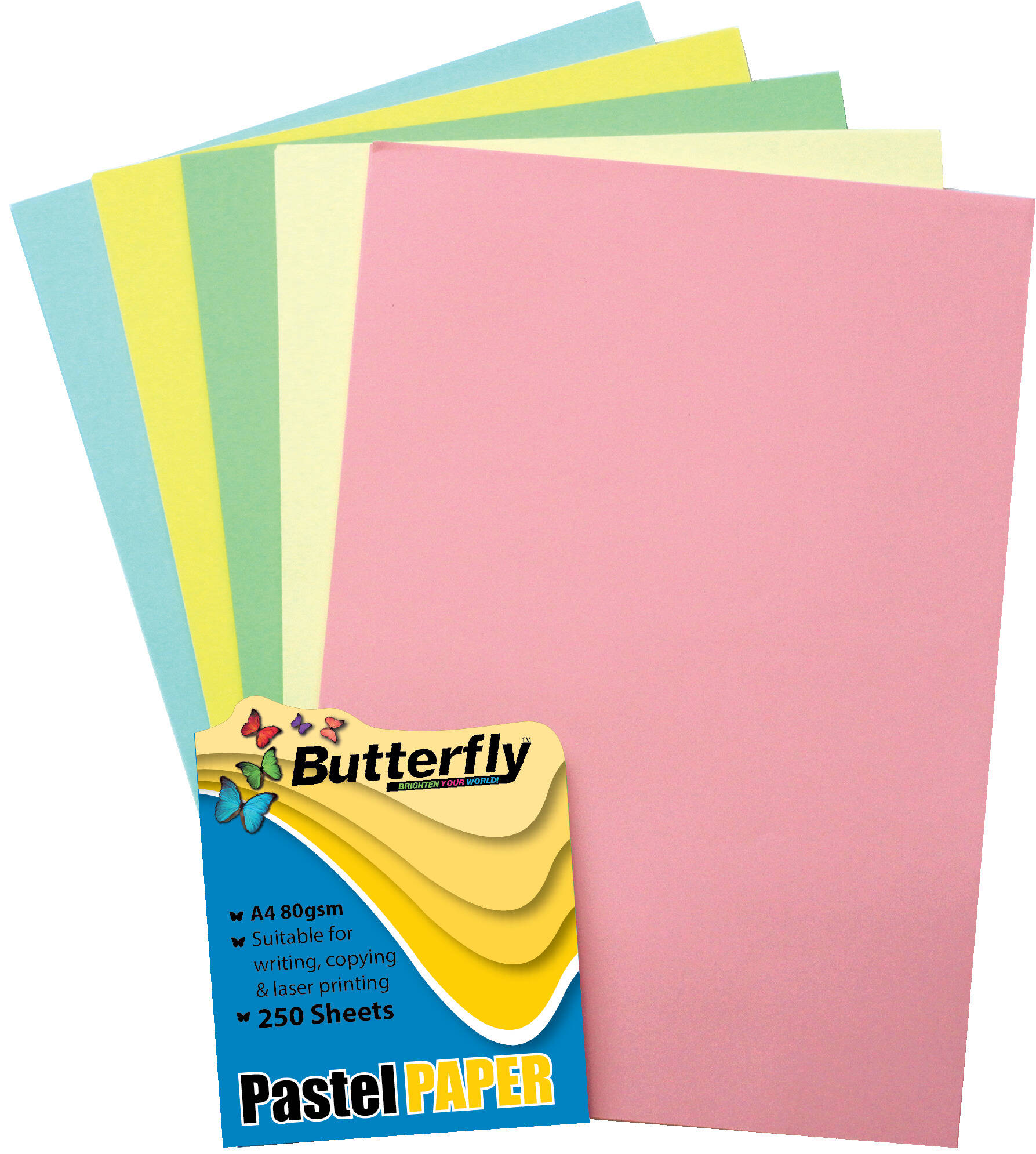 Mixed A4 Pastel Paper - Pack of 250