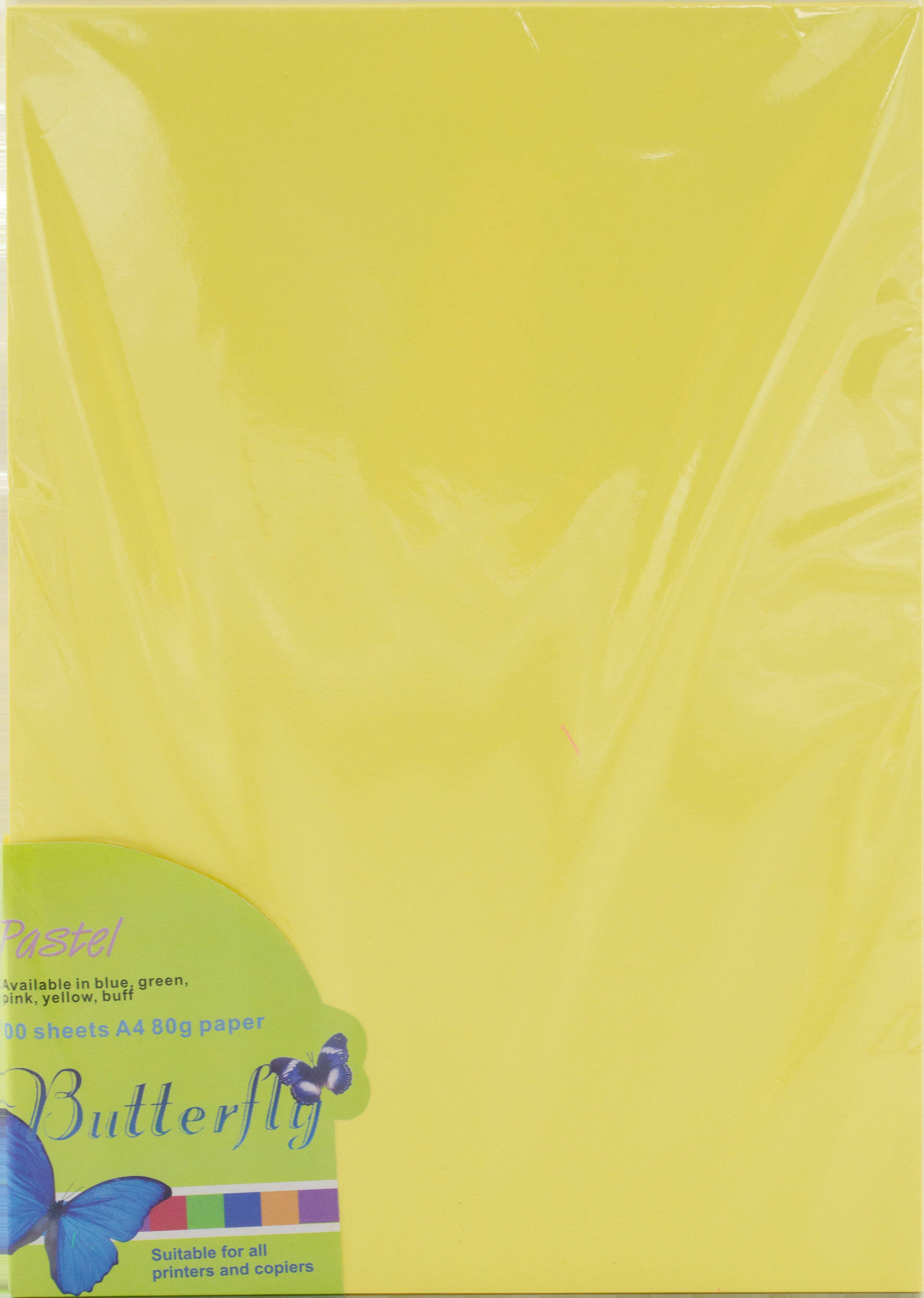 A4 Pastel Paper - Pack of 100 Yellow