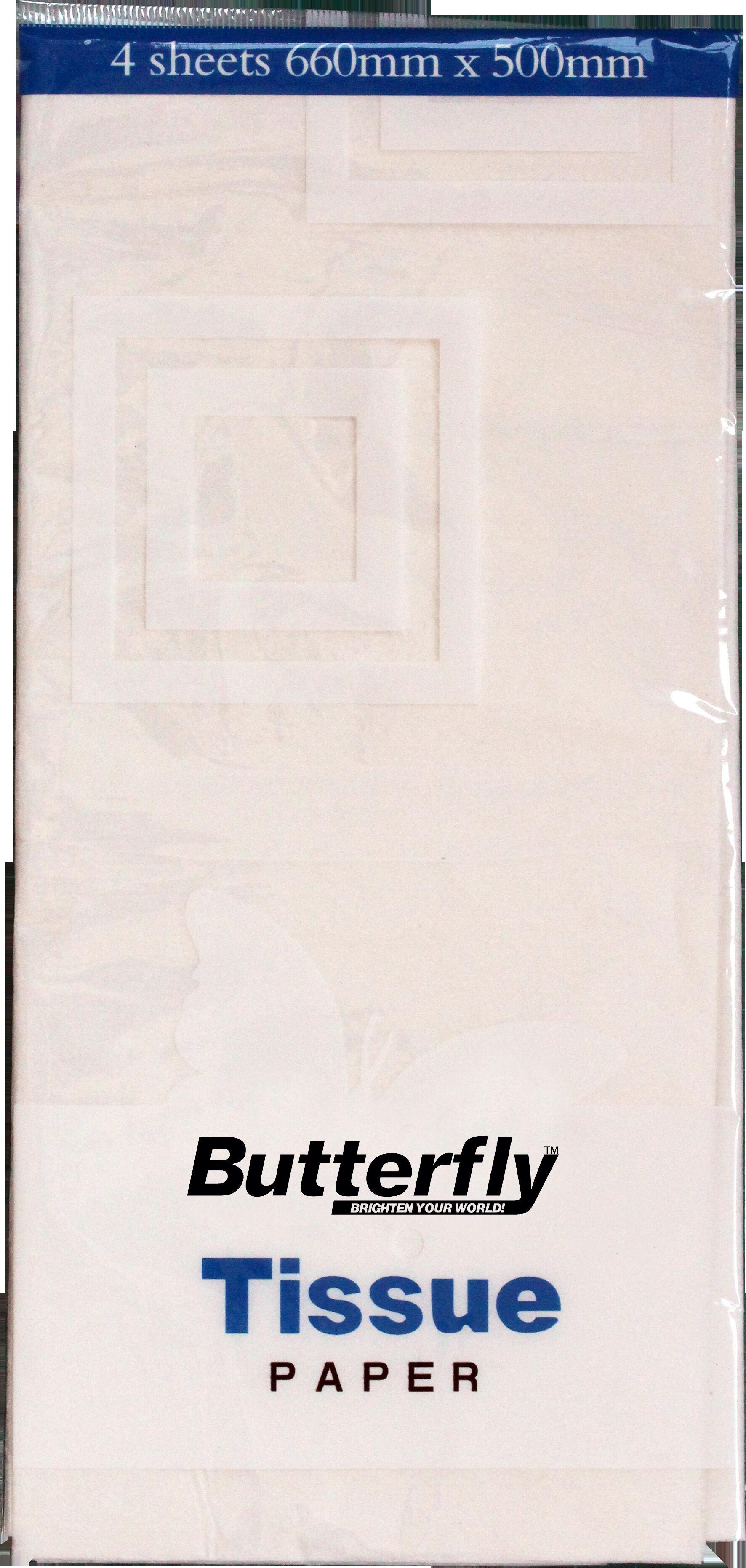 Tissue Paper - 4 Sheets (660 x 500mm) White