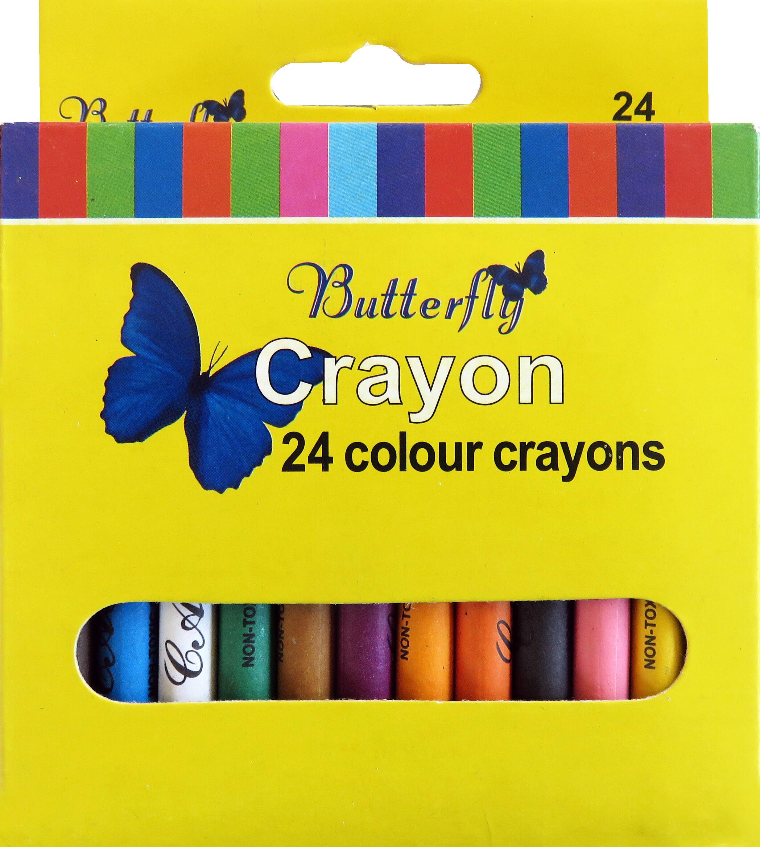 Wax Crayons - 24 Colour