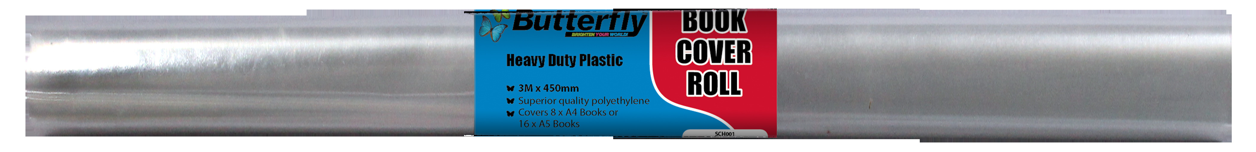 Book Cover Roll - Heavy Duty 80 Micron (3m x 480mm)