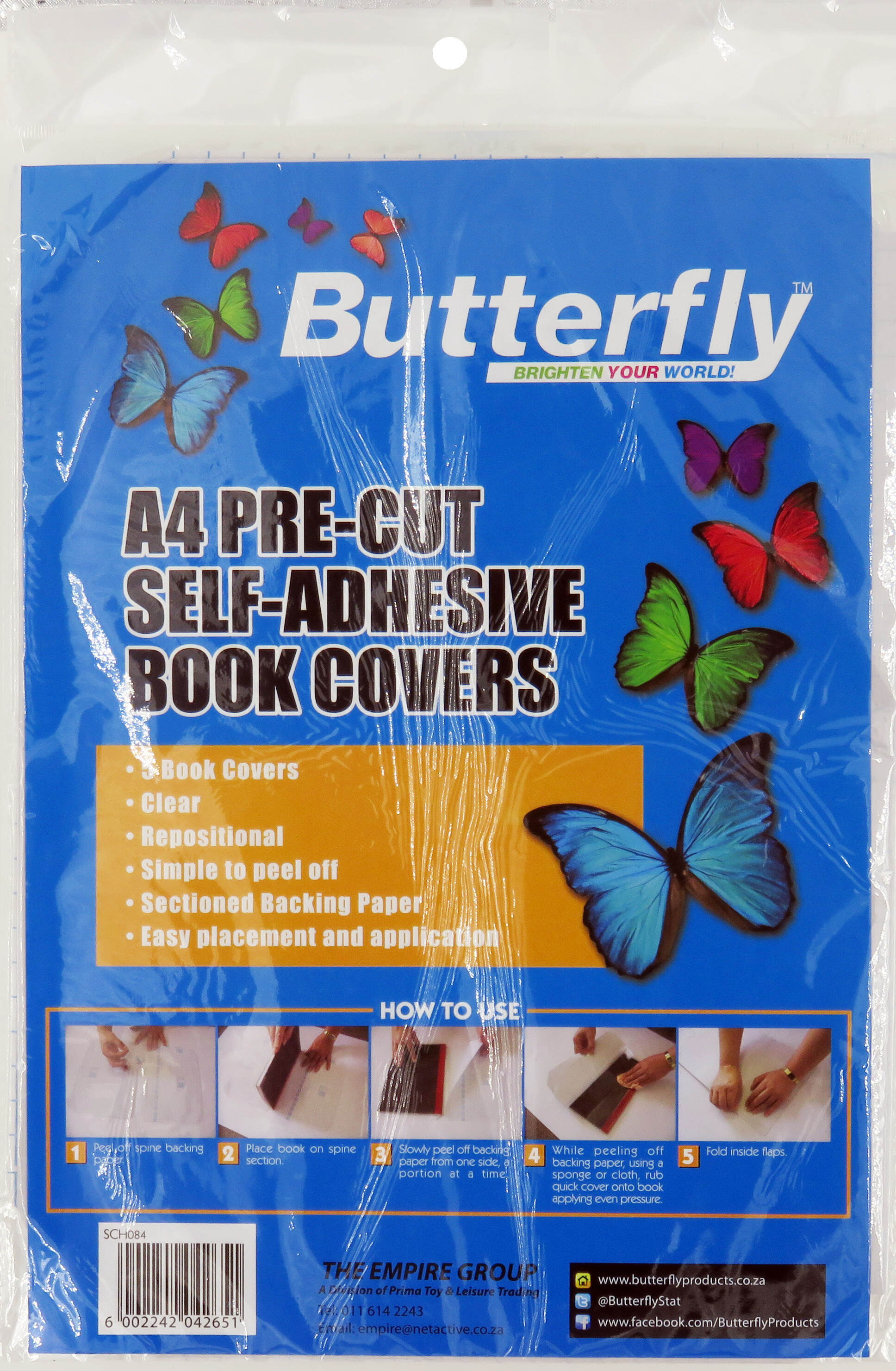 A4 Precut Self-Adhesive Book Covers - Clear - 5 Pack 70 Micron