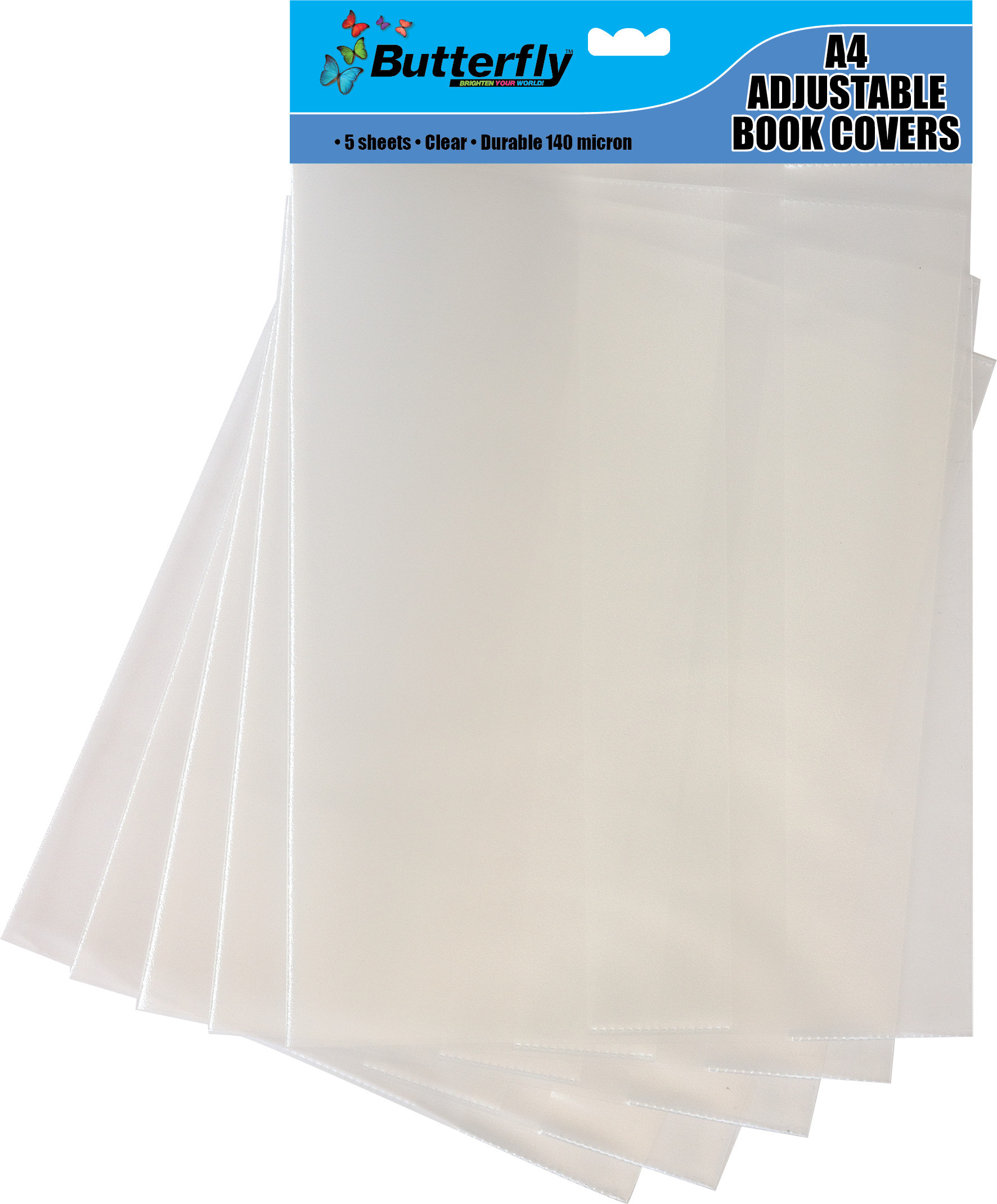 A4 Adjustable Book Covers - 5 Pack 140 Micron