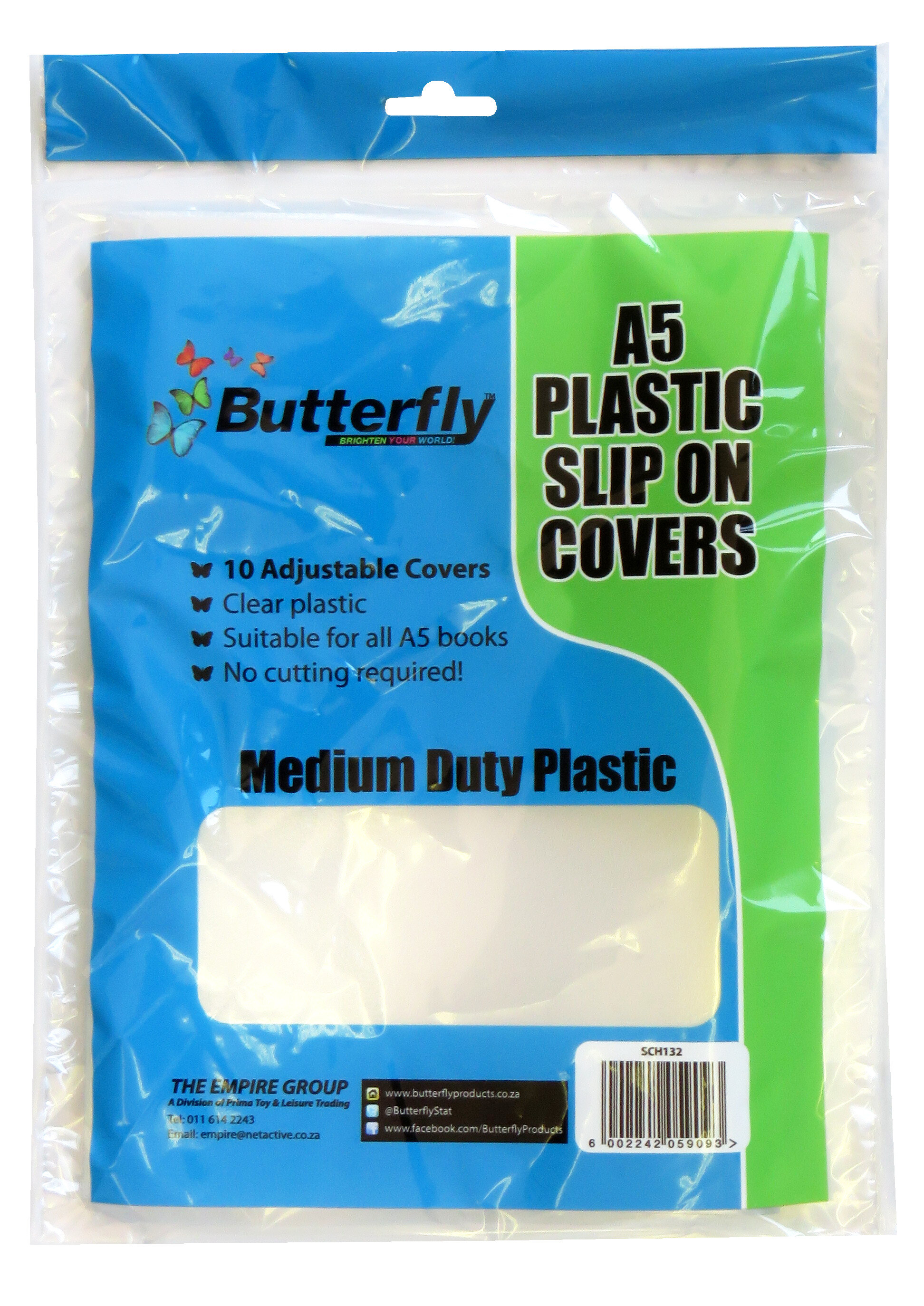 A5 Plastic Slip-On Covers - Clear - 10 Pack 50 Micron