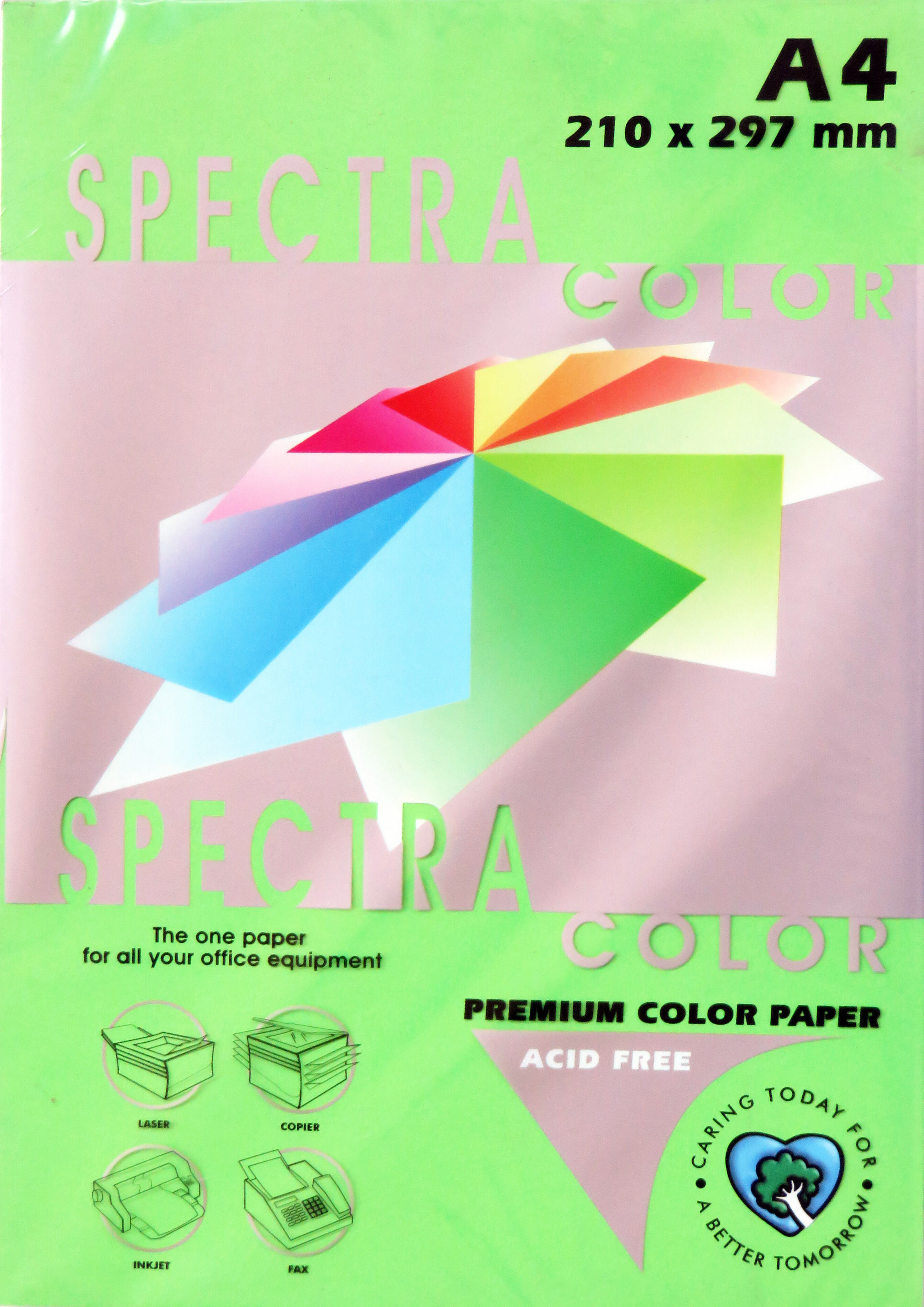A4 Bright Paper - Pack of 500 Dark Green (IK230)