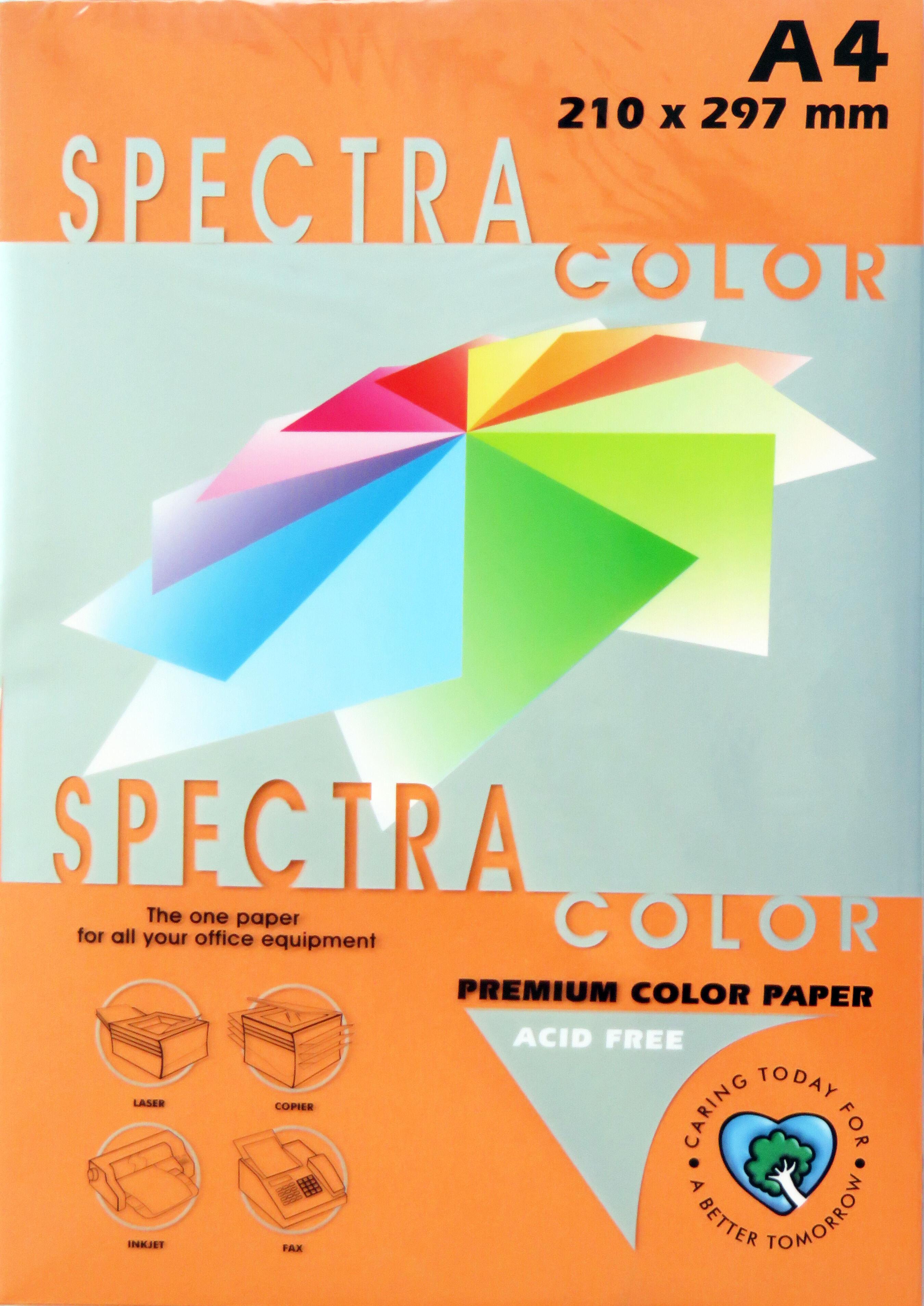 A4 Bright Paper - Pack of 500 Orange (IK240)