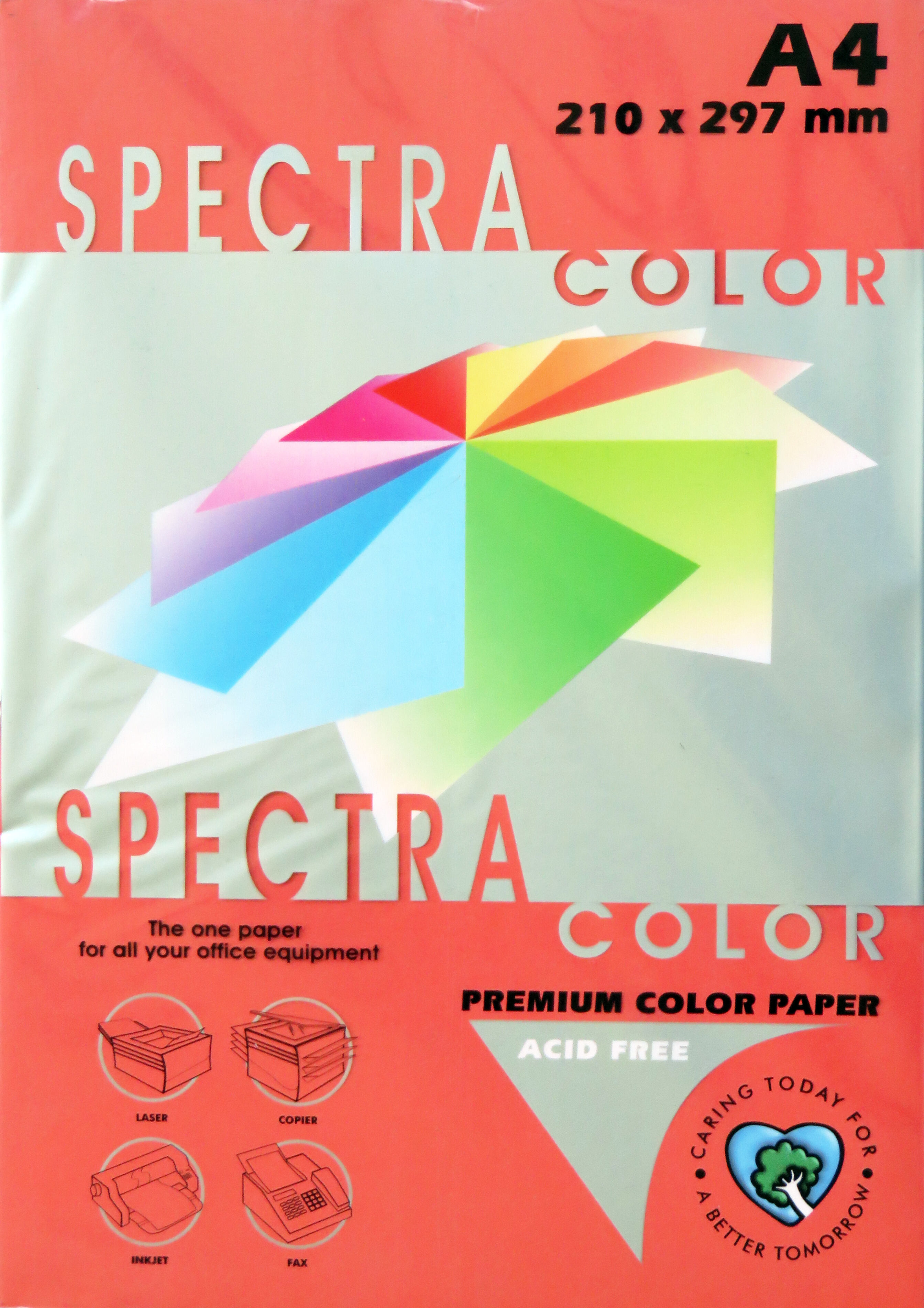 A4 Bright Paper - Pack of 500 Red (IK250)