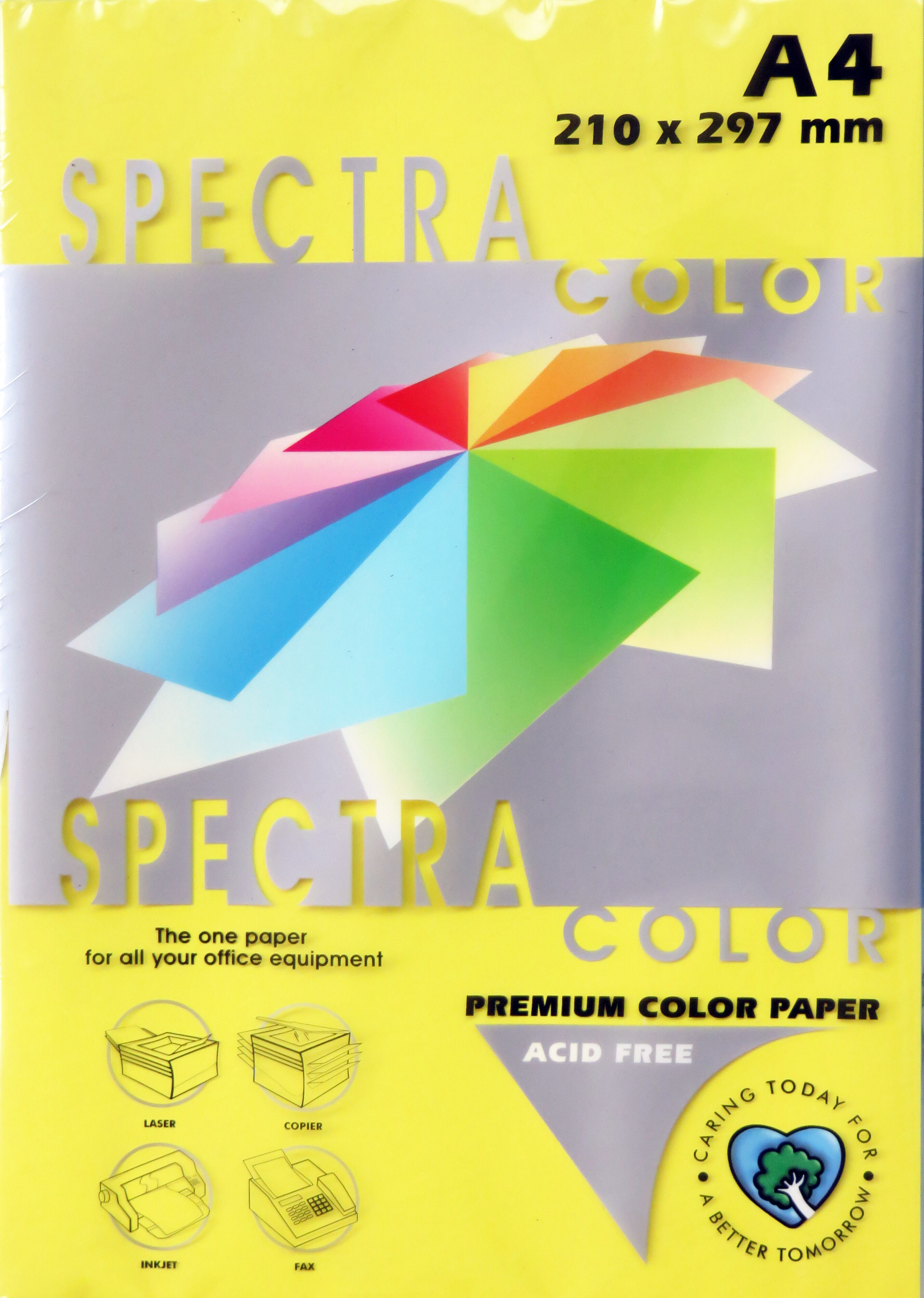 A4 Bright Paper - Pack of 500 Yellow (IK210)