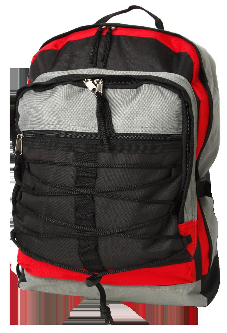 Student Laptop Backpack (VSC) - Black-Grey-Red