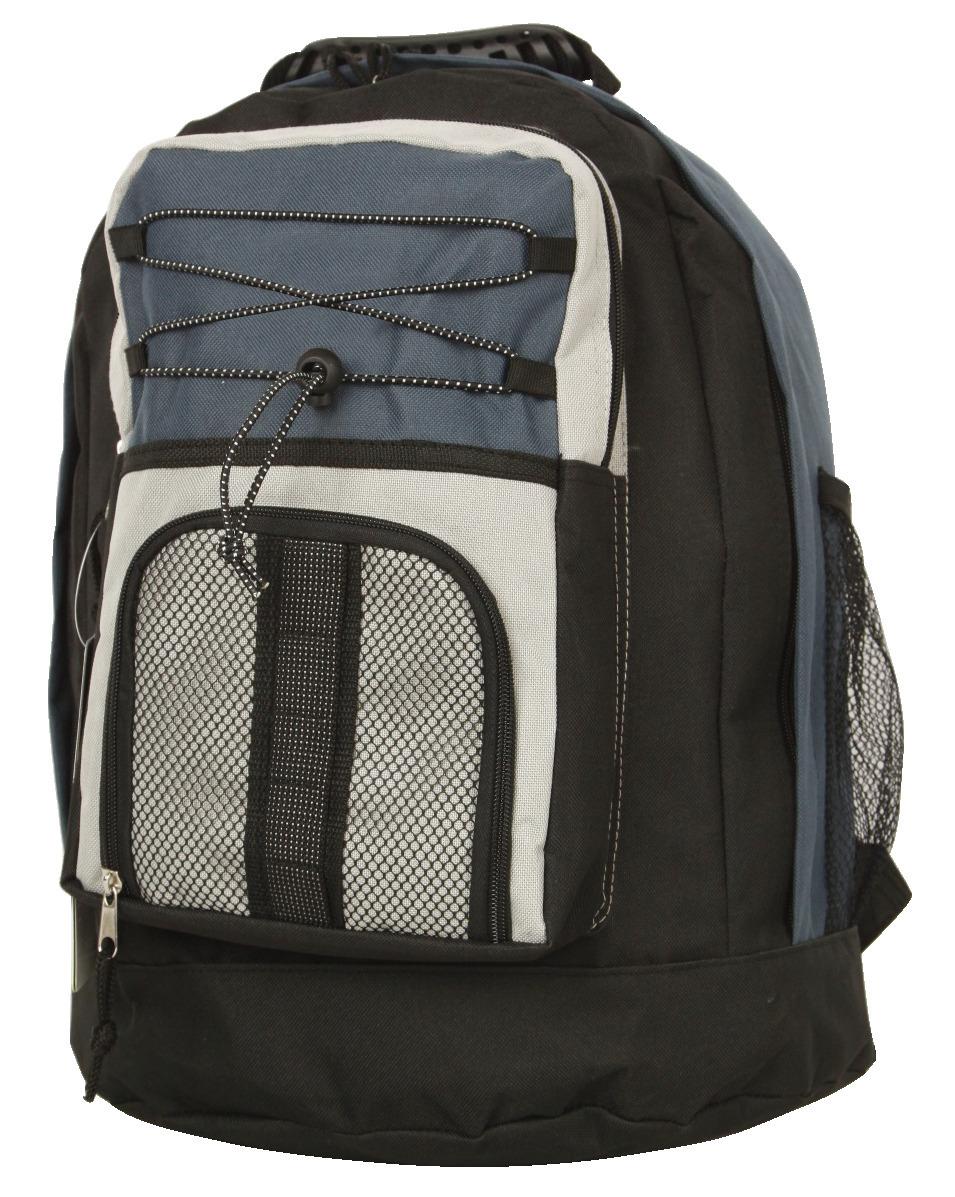 Student Laptop Backpack (VSC) - Black-Navy-Beige