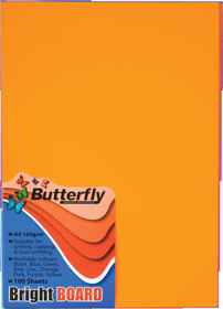 A4 Bright Board - Pack of 100 Orange