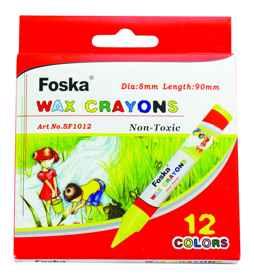Foska Wax Crayons 12's