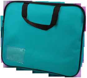 Homework Bag (Book Bag) With Handle - Teal