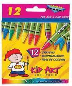 Kid Art R024 Wax Crayons 24's