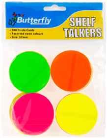 Shelf Talkers - Card Circles 100 (57mm)