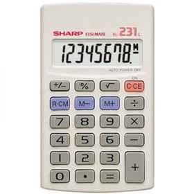 Sharp EL231LB 8Digit Calculator