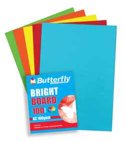 Assorted A3 Bright Board - Pack of 100
