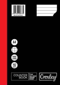 Croxley JD161A 2Quire Ruled,Quad Margin Counter Book