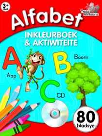 80 Bladsy Inkleur En Aktiwiteitsboek - Alfabet