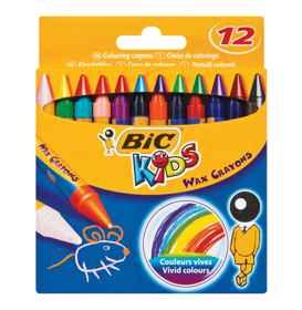 Bic Wax Crayons 12's