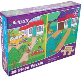Butterfly A4 Wooden Puzzle - 36 Pieces (You get 1 of 6 Designs)