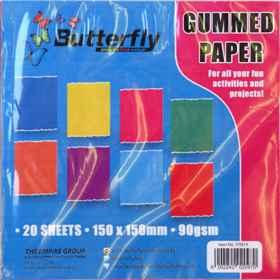 Mixed Gummed Paper - 90gsm 20 Sheet (150 x 150mm)
