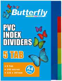 A4 Files Dividers - 140 Micron - 5 Tab
