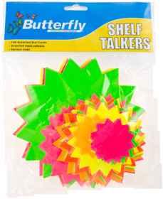Assorted Shelf Talkers - Card Stars 100's