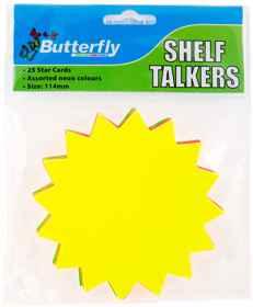 Shelf Talkers - Card Stars 25 (114mm)