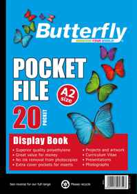Butterfly Pocket File - A2 20 Page