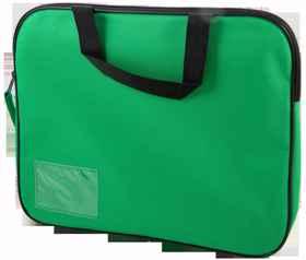 Homework Bag (Book Bag) With Handle - Green