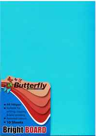 A4 Bright Board - Pack of 10 Blue