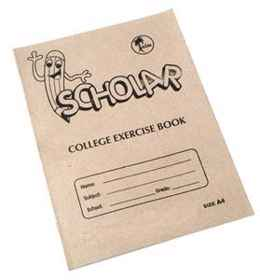 College Exercise Book A4 72PG Quad Margin