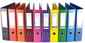 A4 PP Lever Arch File Purple