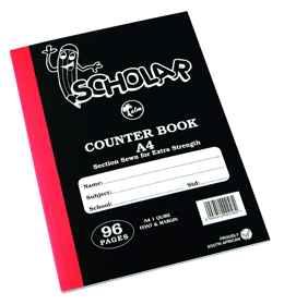 Counter Book A4 1Quire Feint-Margin