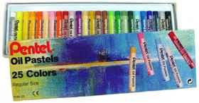 Pentel Oil Pastels 25 Colour
