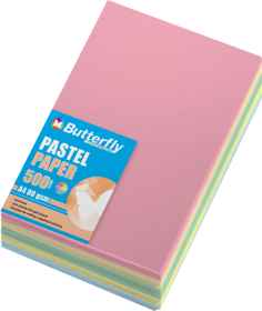 Assorted A4 Pastel Paper - Pack of 500
