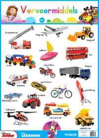 Disney Muurkaart - Vervoermiddels