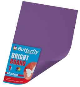 A4 Bright Board - 160gsm Single Purple