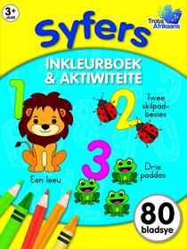 80 Bladsy Inkleur En Aktiwiteitsboek - Syfers