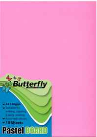A4 Pastel Board - Pack of 10 Pink