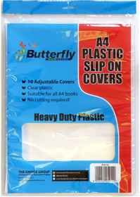 A4 Plastic Slip-On Covers - 10 Pack 80 Micron