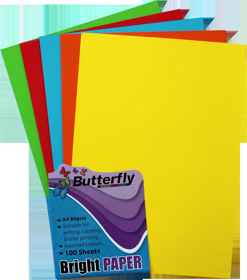 Assorted A4 Bright Paper - Pack of 100