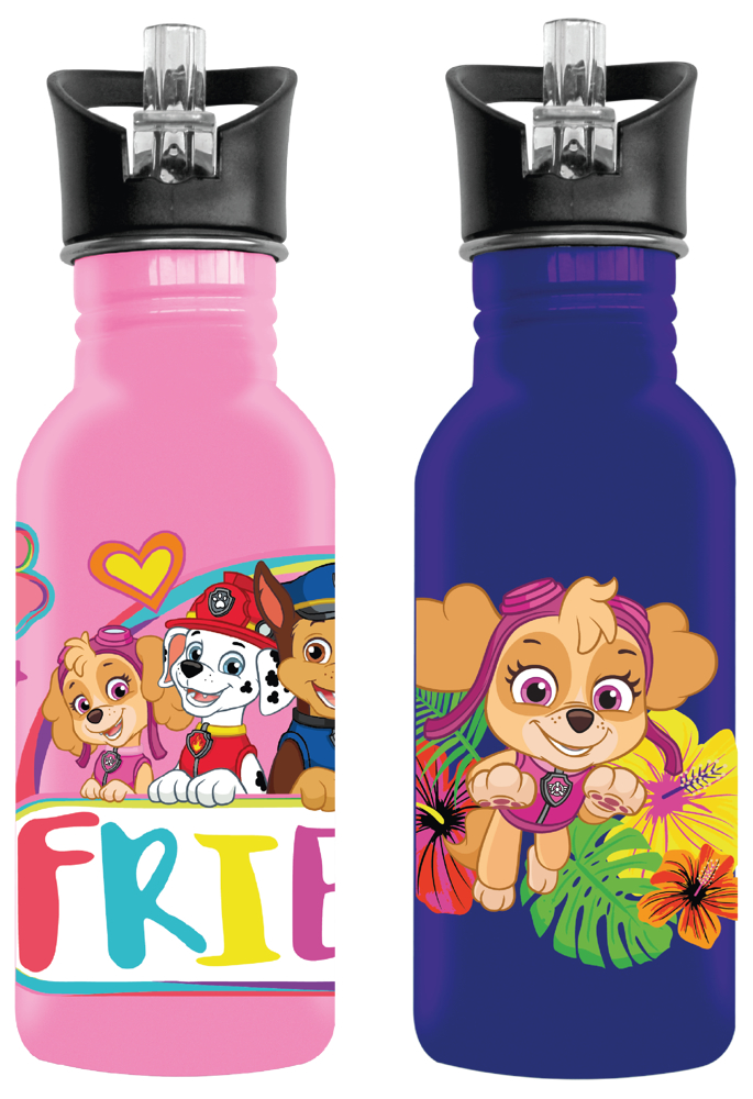 Paw Patrol Girls Aluminium Drinking Bottles (You Get 1 of 2 Designs)