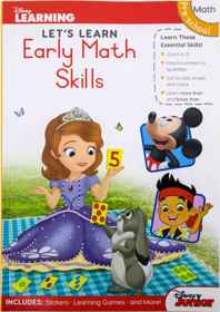 Disney Let's Learn - 80pg Early Maths Skills