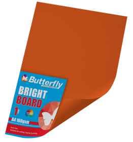 A4 Bright Board - 160gsm Single Orange