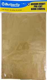 A4 Brown Kraft Precut Book Covers - 10 Pack 40gsm