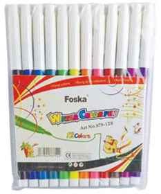 Foska Fibre Tip Pens 12'S