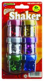 Glitter Shakers 6 Pack Assorted