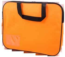 Homework Bag (Book Bag) With Handle - Orange